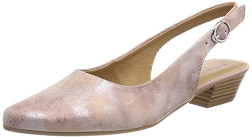 Tamaris Damen 29400 Slingback Sandalen, Pink (Rose Metl.Comb), 38 EU