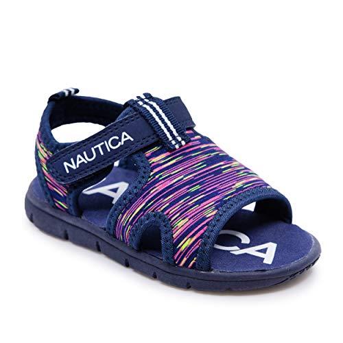 Nautica Toddler Kids Sports Sandals - Water Shoes Open Toe Athletic Summer Sandal - Boy - Girl-Little Kid Big Kid-Diera Girls-Navy Multi Heather-5
