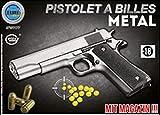 Elite series Pistolet Metal À Billes 22 Cm Argent 0.5 Joules Attention: Vente...