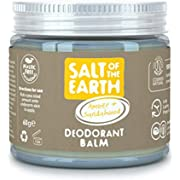 Natural Deodorant Balm by Salt Of the Earth, Amber & Sandalwood - Vegan, Long Lasting Protection, Leaping Bunny Approved, Plastic Free, Made in the UK - 60g,CRYS60AS-C