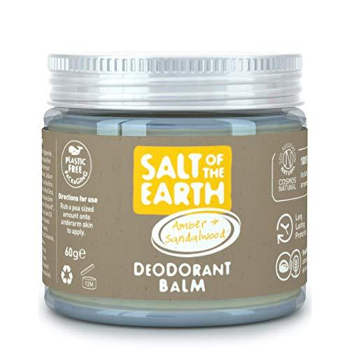 Salt Of the Earth, Natürlicher Deo-Balsam von veganem, langanhaltendem Schutz, springender Hase, Bernstein und Sandelholz, 60 g