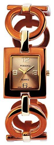 Persona Damen Analog Quarz Uhr mit Kein Armband 100497000239