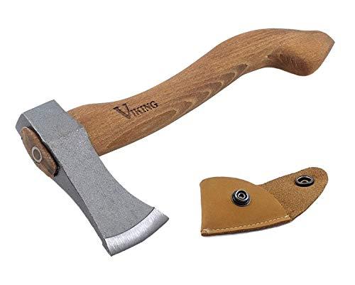 Wikinger Axt, Axt für Camping Zwecke, Hatchet, Viking Axt, Camping Axt, kleine Garden Werkzeug, hackstock für brennholz, Holz spaltaxt, Wurfaxt, Jagd, Stiel mit Naturholz, praktisch