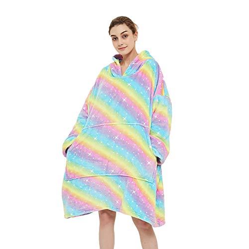 Kaisun - Sudadera con capucha para mujer con capucha y mangas Arcoíris 1. Tallaúnica