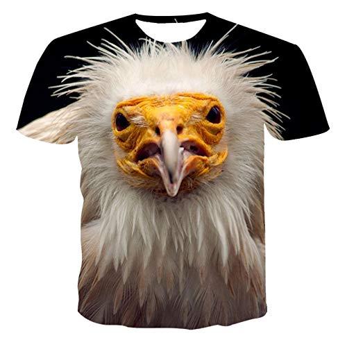 Unisex 3D Druckten Sommer-beiläufige Kurze Hülsen-T-Shirts Sommer Männer Frauen T-Shirt 3D Animal Print T-Shirt Atmungsaktive Streetwear Bedrucktes T-Shirt Männer-XXL
