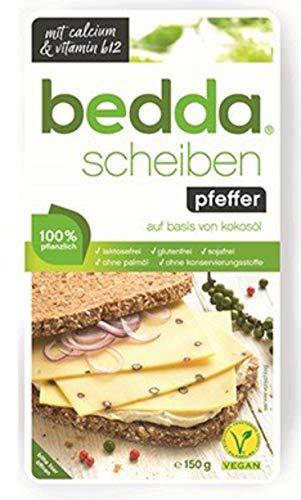 bedda - SCHEIBEN Pfeffer 150g Vegane Käsealternative Mit Angenehm Pfeffrigen Geschmack