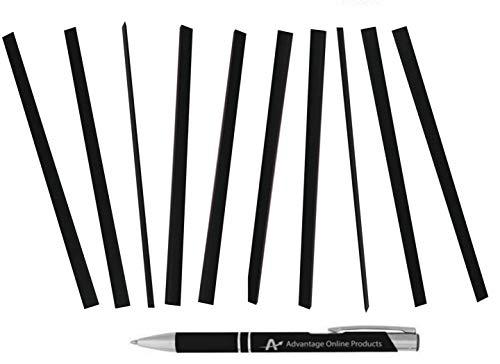 Value Bundle C-Line Slide 'N Grip Binding Backbone Bars for Report Covers, 11 x 1/8 Inches, 20-Sheet Capacity, 10 Per Pack, Black (34551) Plus a Bonus AdvantageOP Custom Retractable Metal Pen