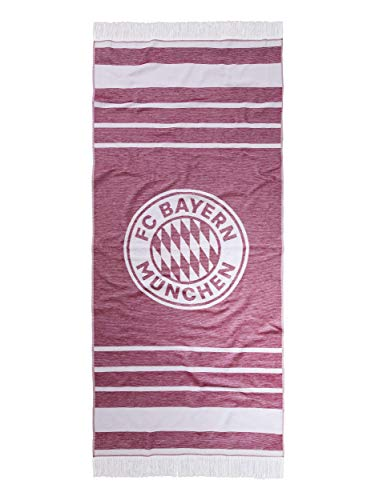 FC Bayern München Strandtuch XXL rot/weiß, rechteckig 200 x 90 cm
