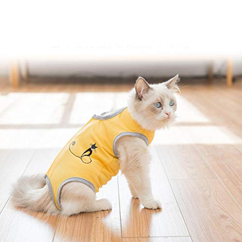Jannyshop Cat Postoperative Clothing Soft and Breathable Wounds Anti-Scratch Recovery Suit