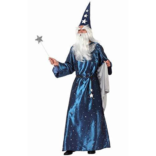 ATOSA disfraz mago hombre adulto azul brillante M