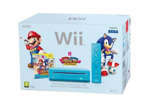 Console Wii bleue + Mario & Sonic aux Jeux Olympiques de Londres 2012 + Télécommande Wii Plus - bleu [import anglais]