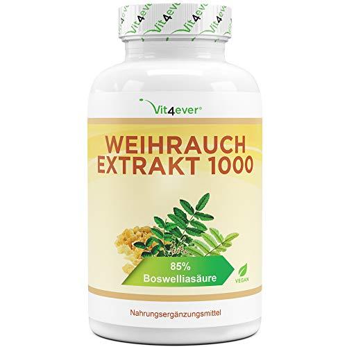 Weihrauch Extrakt - 365 Kapseln - Premium: 85{846e874fa331da713626938fd2aa2ba5619903429c788df1d6b0450d7410dd1c} Boswellia-Säure - Hochdosiert mit 1000 mg je Tagesdosis - Echtes indisches Boswellia Serrata - Laborgeprüft - Vegan