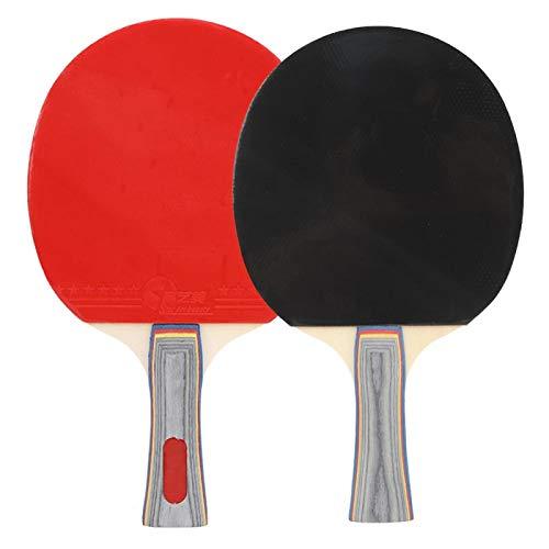 cigemay Paleta de Tenis de Mesa, Palos de Tenis de Mesa con Bolsa de Transporte y 3 Ping Pong, Que proporcionan un Toque excelente, para Jugar en casa en Interiores o al Aire Libre