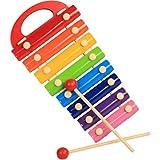 All'inizio Melody xilofono di Legno del Martello g Toy Regalo for i Capretti Bambini xilofono Giocattolo Strumento Musicale a percussione Musicale con Armonica Battere Giocattoli Musicali