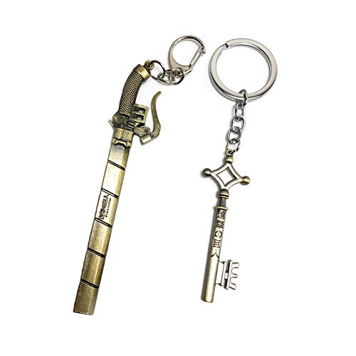 IMAKARA Anime Keychains Metal Pendant Key Rings Novelty Accessories for Attack on Titan Lovers Fans