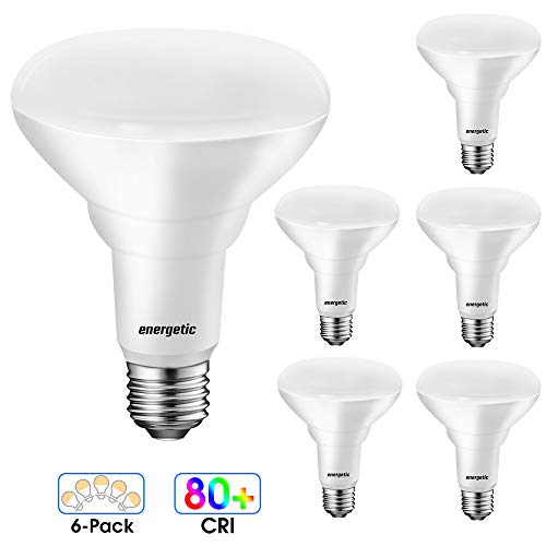 LED BR30 Flood Light Bulbs Indoor, Daylight 5000K, Dimmable, 65 Watts Recessed Light Bulbs for Cans, 750 Lumens, Energy Star, UL Listed, 6 Pack