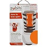 zubits® - Magnetische Schuhbinder/Magnetverschlüsse für Schuhe - Größe #3 Sport/über 84kg in orange