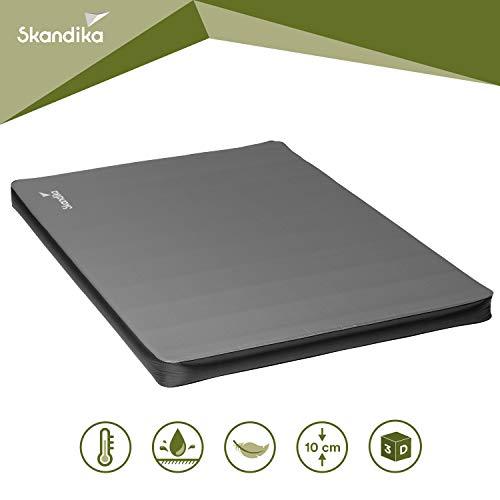 skandika Easy Single/Double 3D Premium selbstaufblasende Isomatte Luftmatratze selbstfüllend, ideal für Zelten, Outdoor, Camping, Gästebett (3D Premium Double)