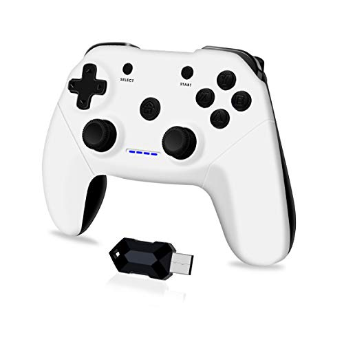 Clevo Gamepad für PC, 2.4G Wireless Game Controller für PC mit USB, Joypad mit Dual Vibration Plug and Play für PC/Windows7 / 8/10 / Android, TV-Box Joystick