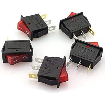 5X//lot GREEN LED Light 3 PIN SPST ON//OFF Boat Rocker Switch 16A//250V 20A//125V TO