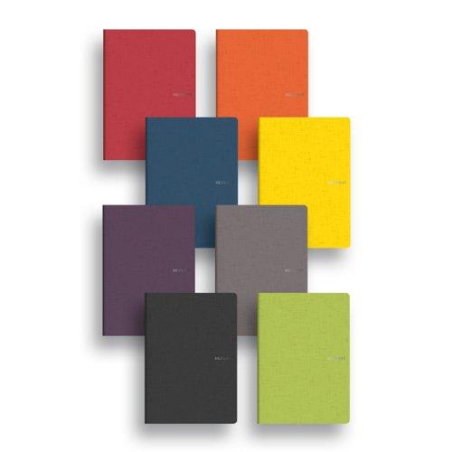 Fabriano EcoQua - verpakking met 5 notebooks, 38 + 2 pagina's, 21 x 29,7 cm, kleur steen