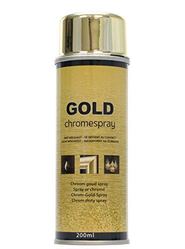 STORE 200 ml Hochwertiger Goldspray mit chromgold -Effekt. Gleichmäßiger, extra feiner Sprühnebel verleiht Oberflächen optische Brillianz.