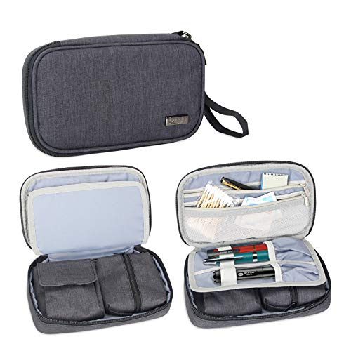 Luxja Diabetic Supplies Travel Case, Storage Bag for Glucose Meter and Other Diabetic Supplies (Bag Only), Black