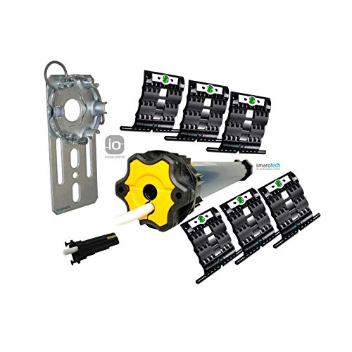 Nachrüstset zum Modernisieren von Gurt/Kurbel auf Somfy Rollladenmotor Oximo 50 io 20/17 (bis 9,0 m²) inkl. 6 St. SecuBlock + Fertigkastenlager