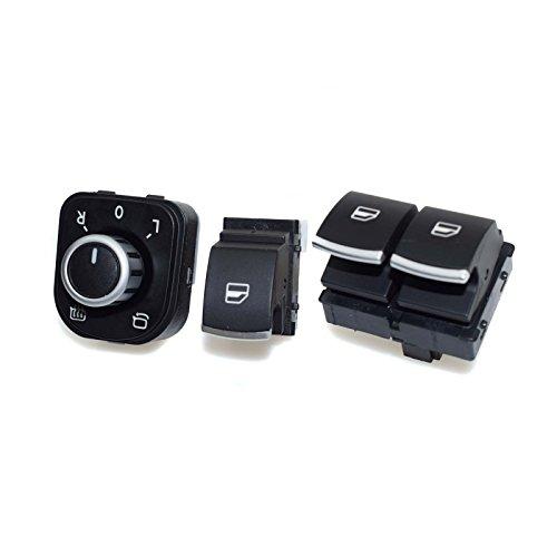 Interrupteur de lève-vitre 5K3959857 pour Golf 6 VI 2 portes Cabriolet Caddy