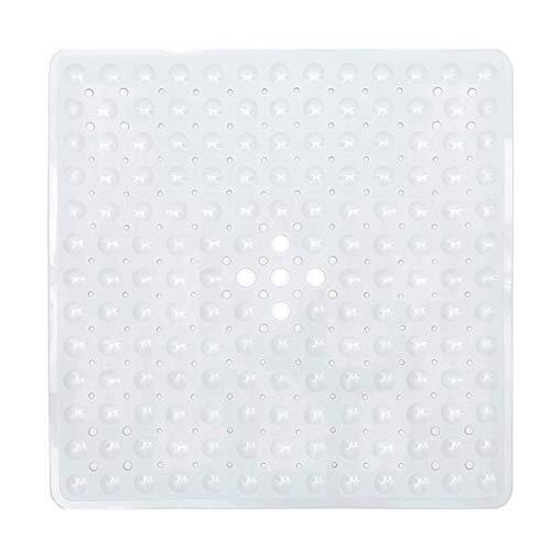 Domowin - Tappetino da doccia, con 169 ventose antiscivolo, per cabina doccia, 53 x 53 cm, colore: Bianco