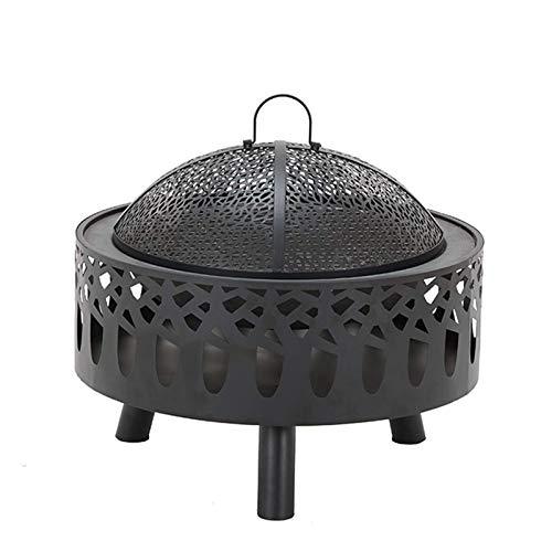 BBZZ Chimenea portátil con rejilla de cocción, hoguera de madera para patio y patio trasero Magnafire Firepit chimenea, 58,8 x 35 cm