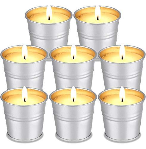 8 Velas de Citronela, FURNIZONE Velas Exterior Vela Perfumada Velas Aromaticas para Exteriores, Camping, Jardín