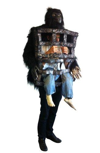 Generique - Gorilla-Kostüm mit Käfig