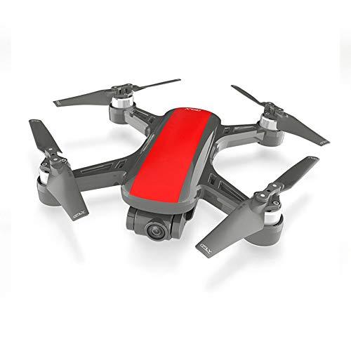 QKa Drohne mit Kamera, Quadcopter mit 1080P-Weitwinkelkamera Live-Video-Mobile-APP-Steuerung Faltbarer Höhen-Hold-Modus Selfie-Pocket-RC-Hubschrauber,Red