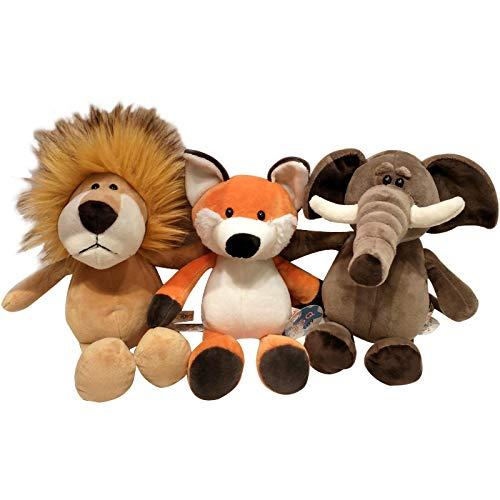 Amyove Kuscheltier Puppe Wald Tier Puppe Simulation Kuscheltier Weiche Puppe Kinder Kissen Geschenk Giraffe 35 cm 0,2 kg