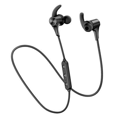 SoundPEATS(サウンドピーツ) Q12HD Bluetooth イヤホン ワイヤレス イヤホン APTX-HDコーデック対応 高音質・低遅延 Free-bit イヤーフック 超軽量 14時間連続再生 ブルートゥース イヤホン Bluetooth5.0搭載 IPX6防水 人間工学 デザイン マグネット内蔵 CVC ノイズキャンセリング搭載 ハンズフリー通話 ワイヤレス ヘッドホン iPhone Android対応 [メーカー1年保証] ブラック