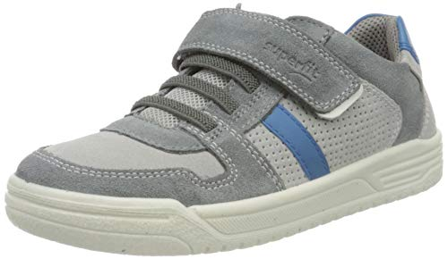 Superfit Jungen Earth Sneaker, Grau (Hellgrau/Blau 26), 38 EU