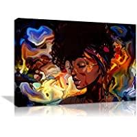 Amemny African American Women Abstract Wall Art Painting