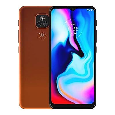 "Motorola Moto E7 Plus XT2081-1, 64GB, 4GB RAM, 48MP Camera System, 6.5"" inches, 5000 mAh LTE Factory Unlocked Smartphone - International Version (Twilight Orange)"