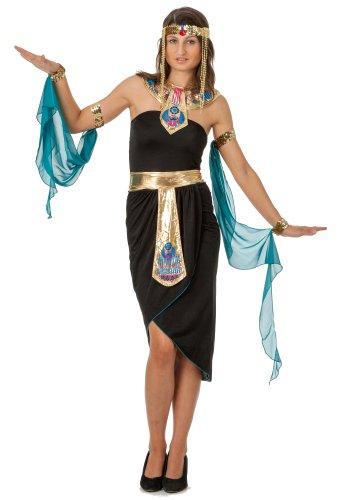 spass42 3 teiliges Damen Kostüm Cleopatra Kleid Kleopatra Ägypten Nofretete Antike Pharao Orient Groesse: XXL/XXXL