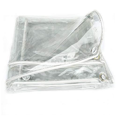 SOME wasserdichte Transparente Plane, 0.3mm/0.5mm Regenschutz Faltbar Strapazierfähige Wetterfeste Plane, Gartenmöbel mit Ösen Abdeckplane