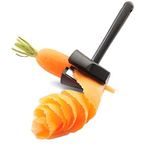 PRINDIY Karotten-Gurken-Lockenwickler Karotten-Julienne-Blumen-Hersteller-Werkzeug Multifunktionaler Gemüsespitzer-Schäler