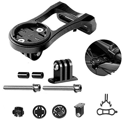 Queen.Y - Soporte para cronómetro de bicicleta, aleación de aluminio, soporte de extensión para soporte de cronómetro para Garmin Edge GPS GoPro