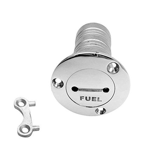 MagiDeal Filler di Riempimento della Piattaforma del Serbatoio del Combustibile del Gas della Barca di 38mm con L'acciaio Inossidabile 316