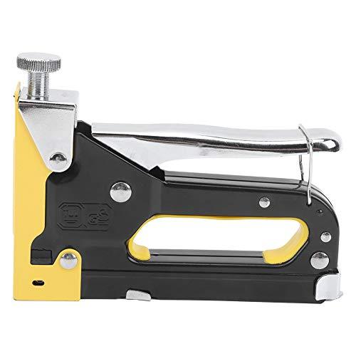 Grapadora portátil, pistola de clavos manual 3 en 1, grapadora para manualidades, clavado rápido, grapa en forma de U/grapa en forma de puerta/grapa en forma de T de alta resistencia.