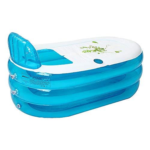 yorten Verdickte Aufblasbare Badewanne Tragbare Faltbare PVC Home Camping Travel Badewanne für Erwachsene und Kinder 1400 * 750 * 700 mm