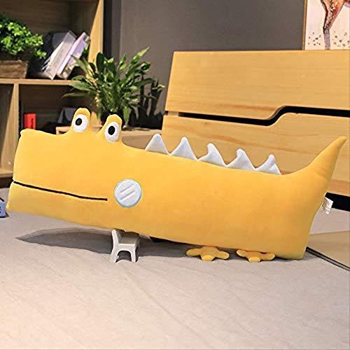 Kpcxdp Dibujos Animados tridimensionales cómodos Dinosaurios de Felpa Almohada de Felpa para niños Regalo 56cm Gris