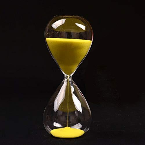 SENFEISM Reloj de Arena Amarillo Cristal de Arena Reloj de Arena Temporizador Claro Vidrio Liso Medidas decoración de Escritorio para el hogar cumpleaños de Navidad