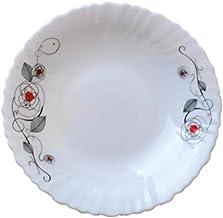 RoyalFord Opalware Soup Plate 9.5 Liza White - RF6737