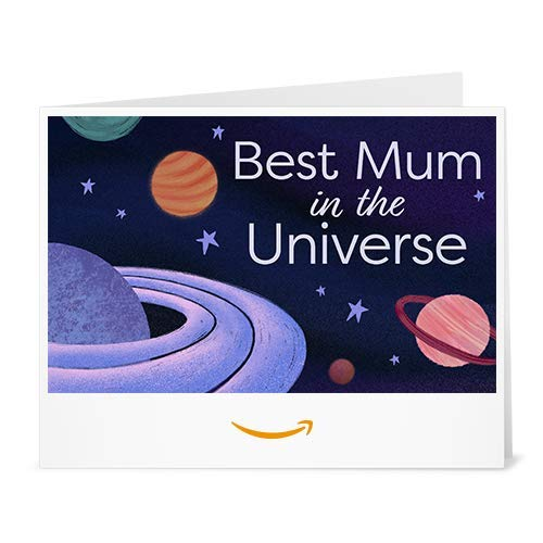 Mother's Day Best Mum in the Universe - Printable Amazon.co.uk Gift Voucher